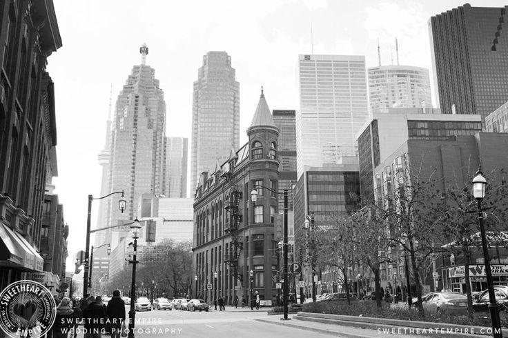 Toronto's downtown core and the Flatiron building #gooderhambuilding #sweetheartempirephotography