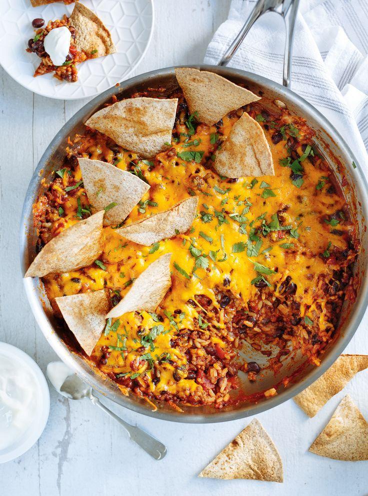 Recette de casserole mexicaine « burrito » de Ricardo 3.5/5 ok pour repas de semaine