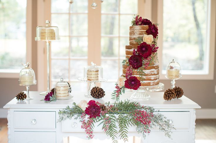 Love the idea of a Wooden Desk Being Used as a Dessert Table / photo by Ashley Cook Photography / as seen on www.BrendasWeddingBlog.com