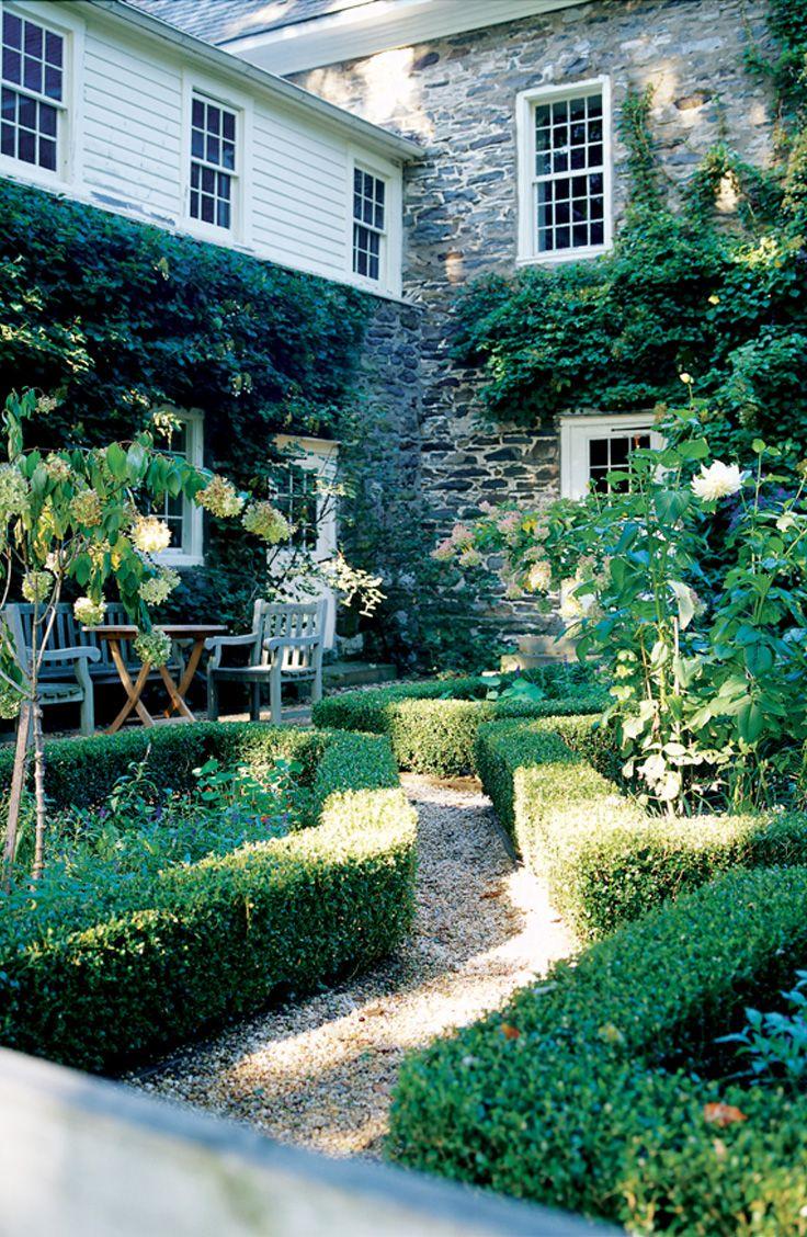 secret garden  manicured landscape  perennial hideaway