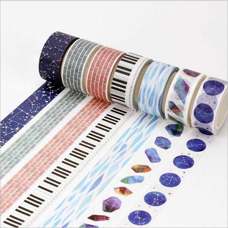 15/20mm * 8 m washi pita Jepang account Tangan DIY dekorasi scrapbooking perencana selotip pita perekat label stiker alat tulis