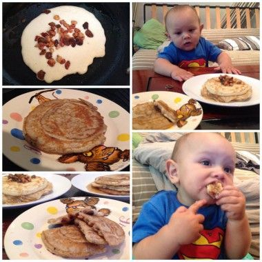 American Style Pancakes - Baby Led Weaning Recipes from PeanutDiaries.com
