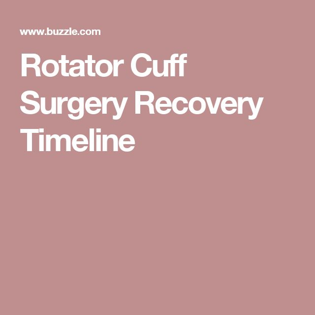 Rotator Cuff Surgery Recovery Timeline...why am I not healing??