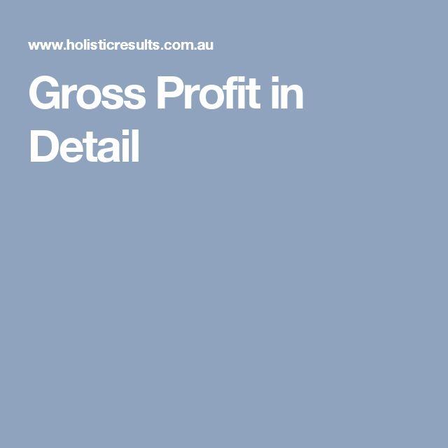 Gross Profit in Detail