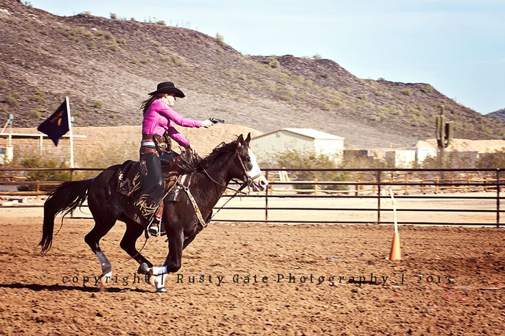 Natalie Johnson is a CMSA 2X Ladies Reserve World Champion (Cowboy Mounted Shooting Association ... www.cowboymountedshooting.com) ... and participating in a PATH International event (www.pathintl.org) at Ben Avery Shooting Facility in Phoenix, AZ