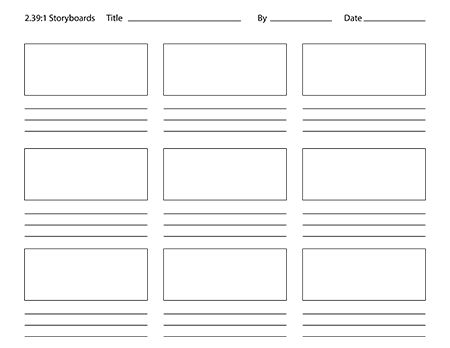... Storyboard Template 6 Boxes By Photoshop Storyboard Templates Paper  Crafting ...