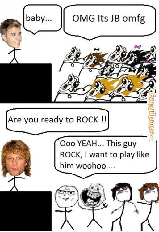 Funny Meme Bon Jovi : Funny memes justin bieber fans vs bon jovi