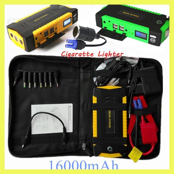 Car Jump Starter 600A Emergency Starting Device 16000mAh Power Bank 12V Charger for Car Battery Booster Buster Diesel Petrol CE