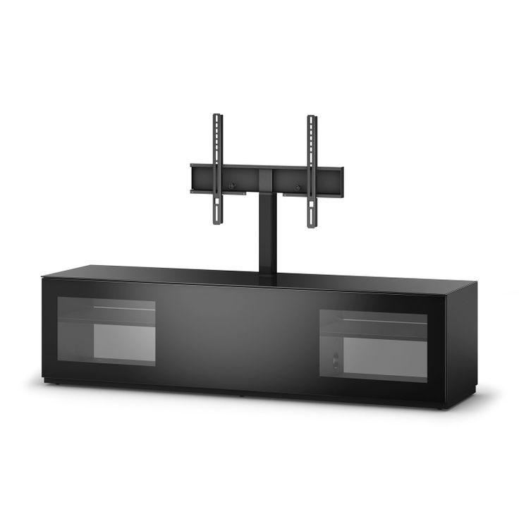 mueble de televisin st de sonorous compra online este mueble auxiliar que te har la vida ms cmoda y sencilla en cristal y aluminio color negro