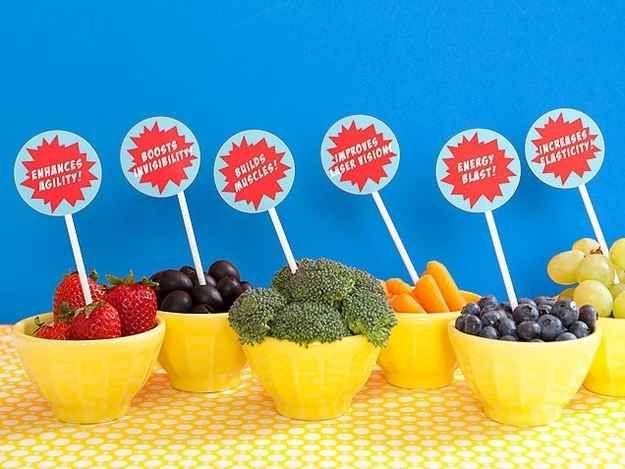 For a healthier option: SUPER foods.