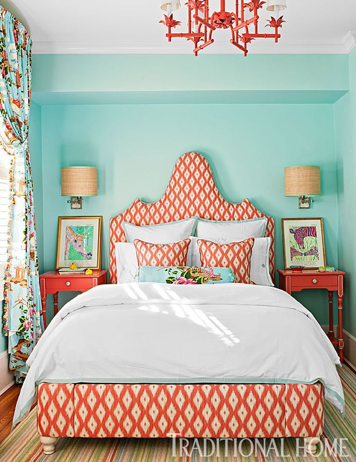 coral bedroom color schemes the combination of aqua and coral in the bedroom 15014