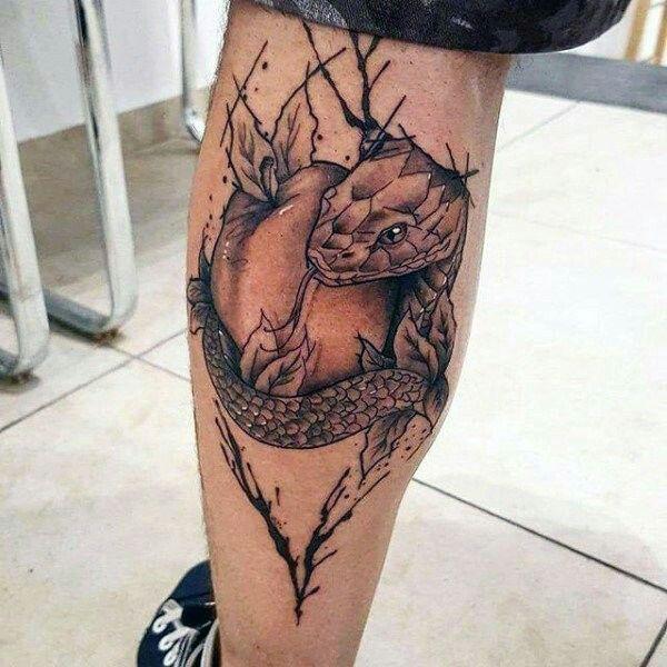 Rattlesnake Wrapped Around Leg Tattoo: 35 Best Snake Tattoo Images On Pinterest