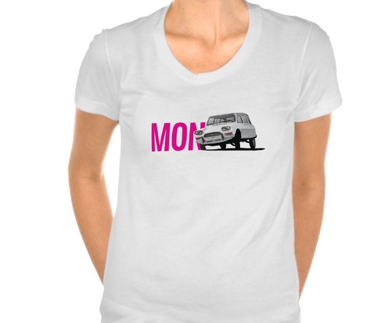 Mon Ami, Citroën Ami 8.  #monami #french #citroën #citroen #citroenami #automobile #illustration #70s #tshirt