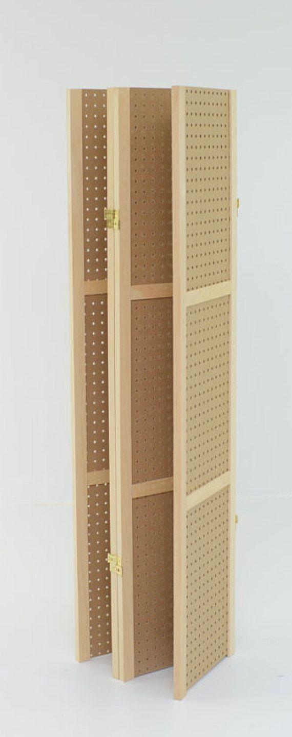 Pegboard Display 4 panels hinged to fold flat. 34-1/4