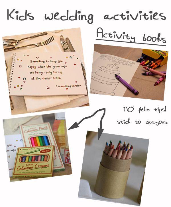 Wedding Ideas For Kids: Ideas For Children's Wedding Activity Packs