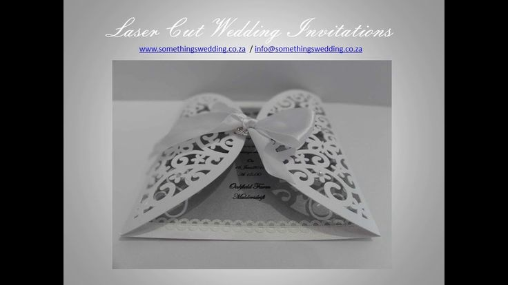 Laser Cut Wedding Invitations - Somethings Wedding