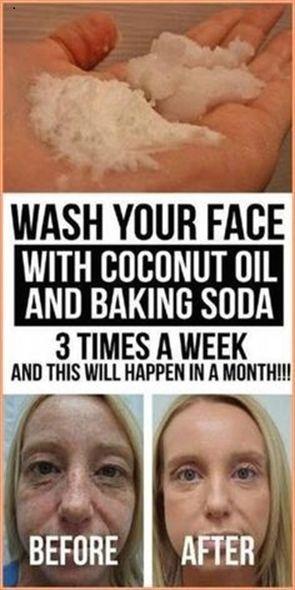 Coconut Oil & Baking Soda Mask