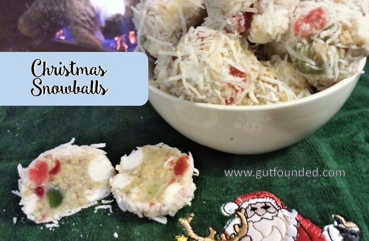 christmas, newfoundland, cookie, ball, snowball, dessert, holiday, coconut, marshmallow, cherries, graham, condensed, milk