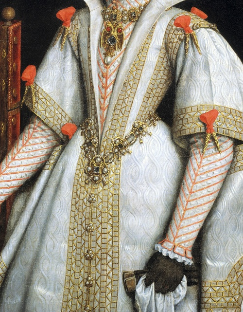 Bartolomé González. Detail from La reina Ana de Austria, cuarta esposa de Felipe II, 1616.