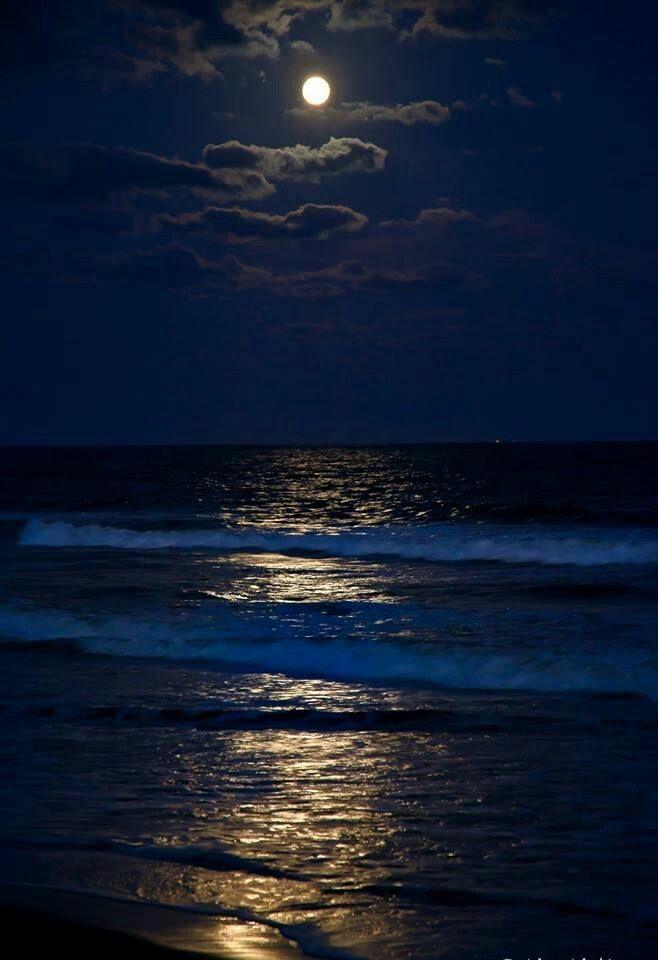 C Est La Vie Photo Beautiful Moon Moon Pictures Beach At Night