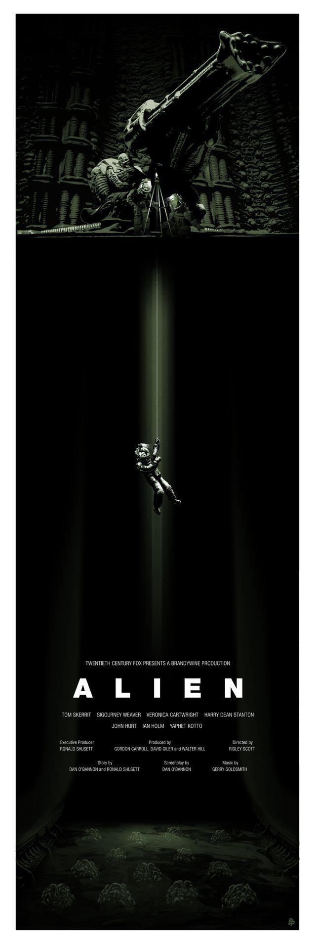 Alien cover. groen-zwart contrast