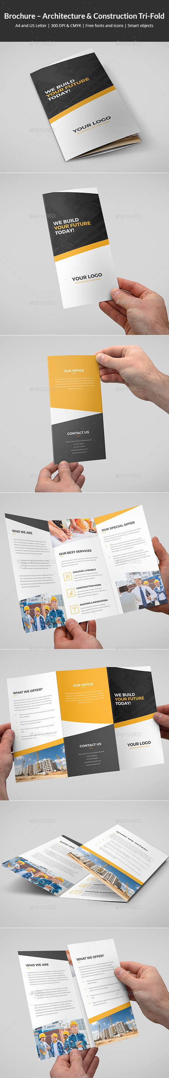 Brochure – Architecture and Construction Tri-Fold - 3Corporate #Brochures Download here: https://graphicriver.net/item/brochure-architecture-and-construction-trifold/19513965?ref=alena994