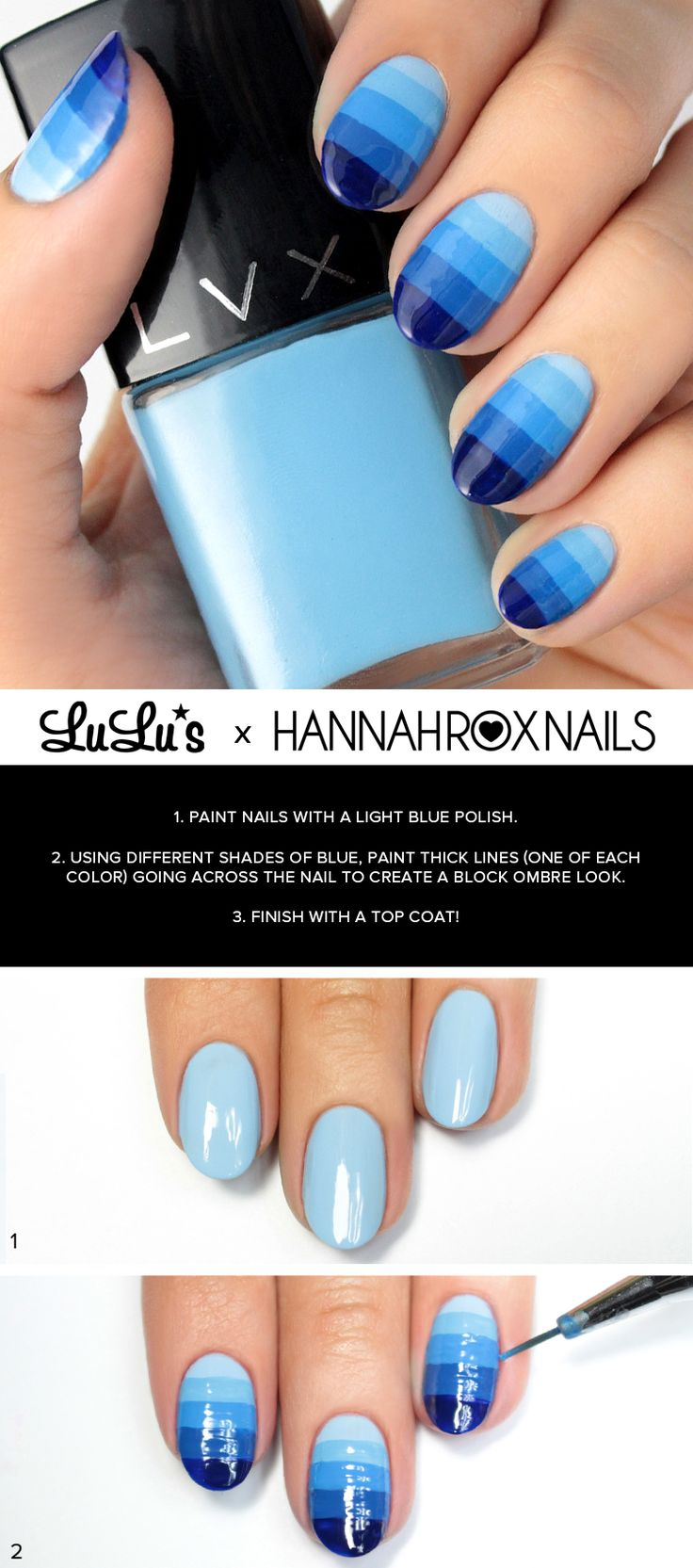 Mani Monday: Blue Ombre Nail Tutorial at LuLus.com!
