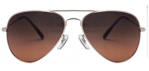 Soul 9 Grand Prix 1 Silver Brown Gradient Mirror Aviator Sunglasses