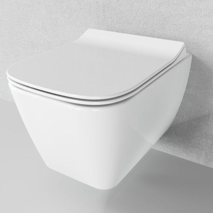 Spulrandloses Hange Wc Harmo Mit Soft Close Deckel Abnehmbar Spulrandloses Wc Toiletten Toilettendeckel