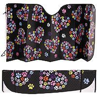 Freekibble WonderFunder: Paws in My Heart Windshield Sun Shade at The Animal Rescue Site