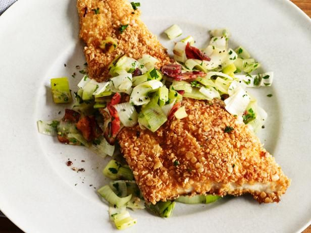 Oatmeal-Crusted Trout #FNMag #myplate #letsmove #protein