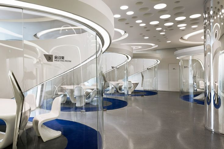 Futuristic Interior Sky Soho By Zaha Hadid Architects