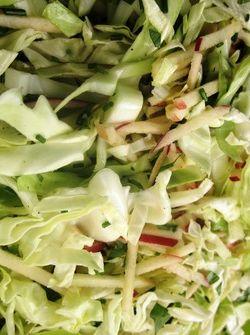Recepten - Salade van appel, peer en spitskool