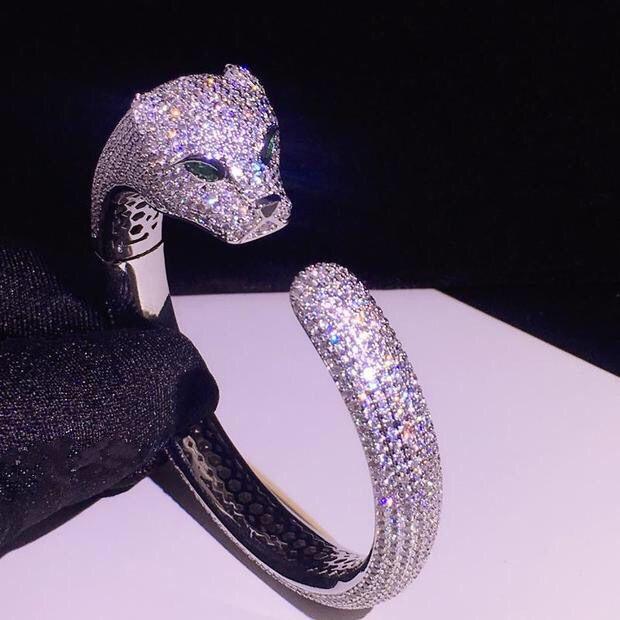YDF Women's Beaded Ring Flexible Elastic 925 Silver Rhodium-Plated Steel Spring Inner MHQ23
