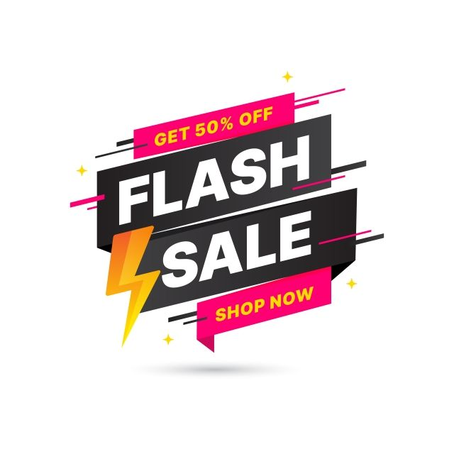 Flash Sale Discount Banner Template Promotion Vector And Png Desain