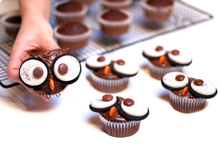 Cupcakes Búho de chocolate, paso a paso con Thermomix®