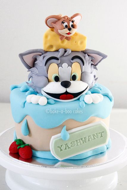 Tom and Jerry Cake by Bake-a-boo Cakes NZ, via Flickr