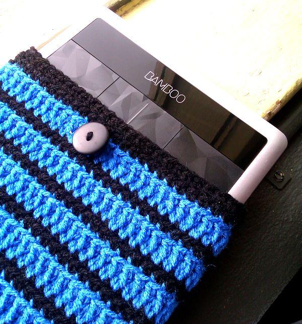 Handmade by Haniyya: FREE Crochet Pattern for Wacom Bamboo Tablet Crochet Jacket