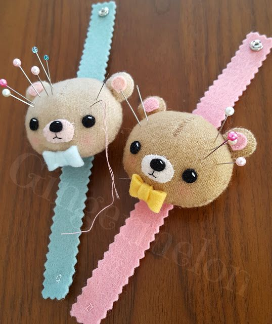 Gingermelon Dolls: Free Pattern - Cutie Bear Wrist Pincushion