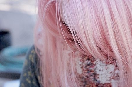roze haar  Als ik nu 20 jaar was had ik idd roze haar