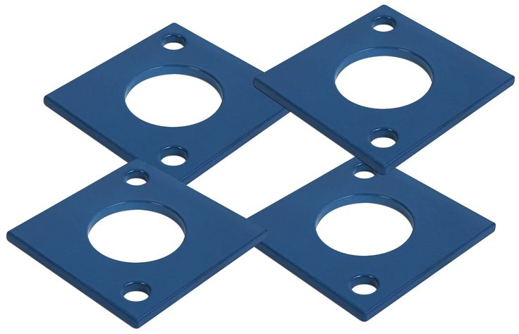 This set of four anchor plates is designed for use with Priefert Scales by Cardinal and should be used to secure the scale to a concrete surface.