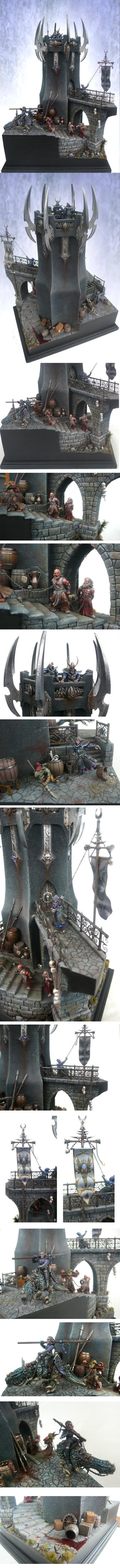 CoolMiniOrNot - Dark elves tower by derwish