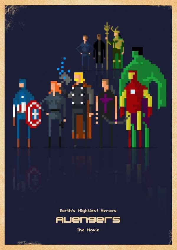 Pixelated Pop Culture Ensembles Paulo Capdeville Renders Comic Book Favorites Using Chunky Blocks #marvelcomics #comics #superheros #8bit #retro #fanart