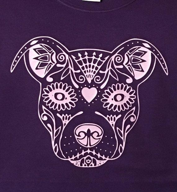 Azúcar cráneo Pitbull t-shirt por EnchantedCreationsWE en Etsy
