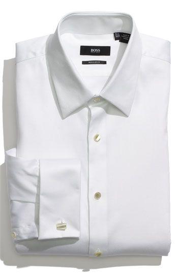 BOSS Black Regular Fit Tuxedo Shirt