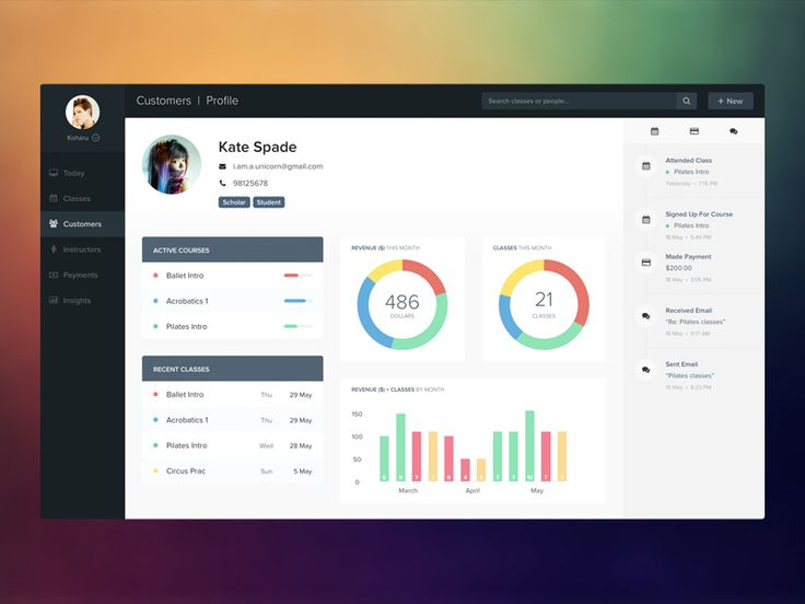 Student profile student app and dashboards for App design online