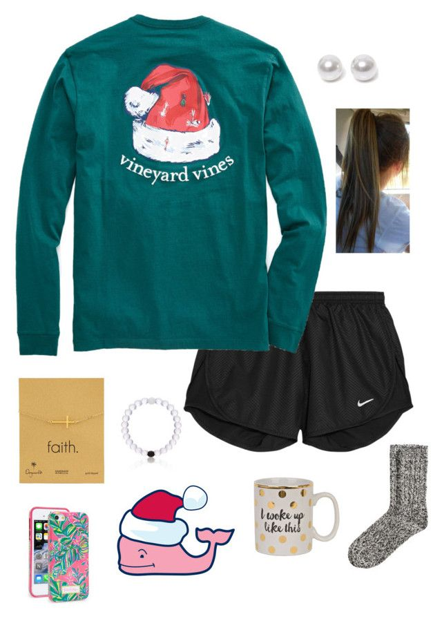 """""""so ready for Christmas!!"""" by gabbbsss ❤ liked on Polyvore featuring NIKE, Dogeared, Nouv-Elle, H&M and Lilly Pulitzer"""
