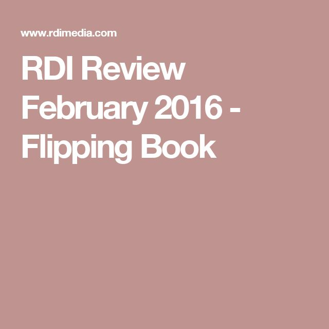 RDI Review February 2016 - Flipping Book