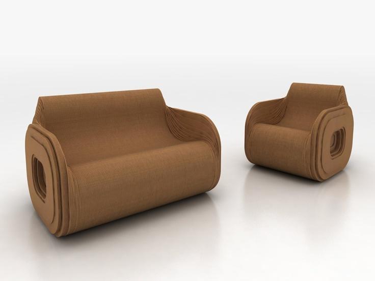 Fotele z tektury