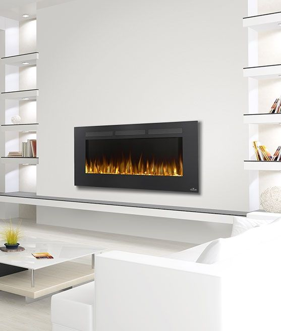 "Napoleon Allure 50"" electric #fireplace makes a great focal point. Also safe below TV's."
